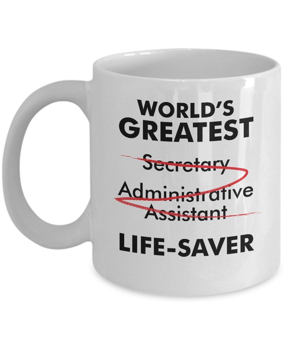 Amazon.com: World\'s Greatest Secretary Life Saver Funny Appreciation ...