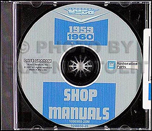 1959  1960  CADILLAC SHOP//BODY  MANUAL ON CD