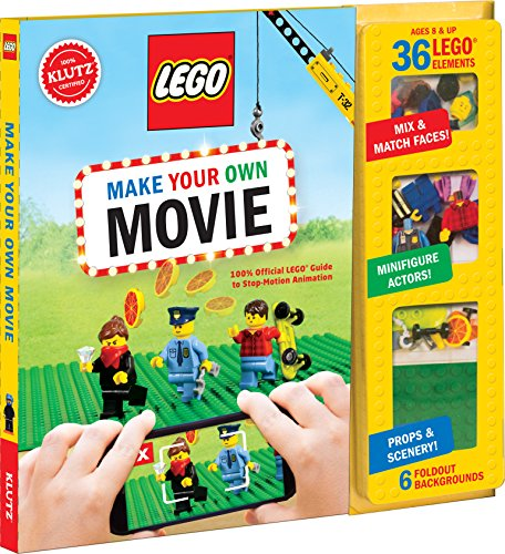 KLUTZ LEGO Make Your Own Movie Kit - Baseball Figures Scale
