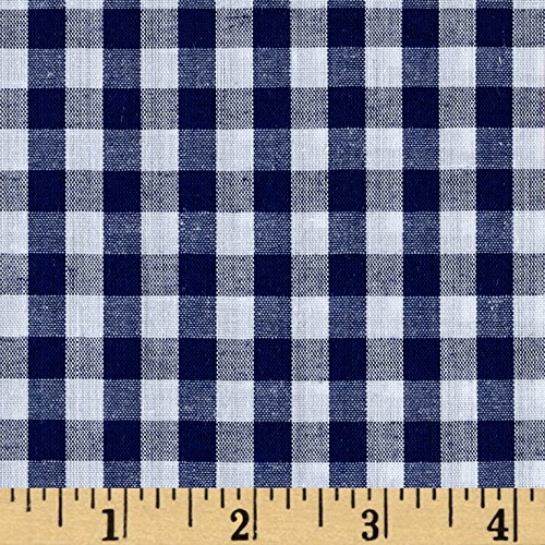 Richland Textiles 0453033 Richcheck 60in Gingham Check 1/4in Navy Fabric by The ()
