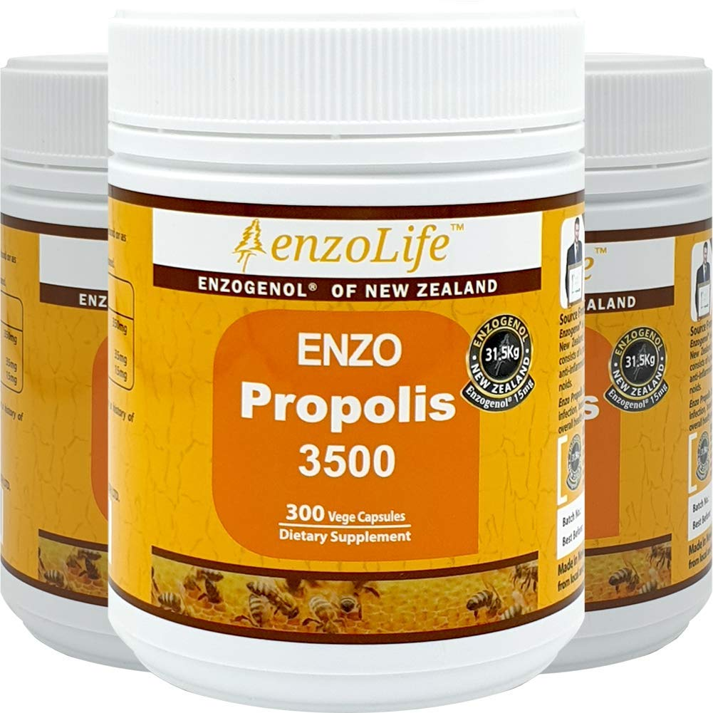 New-Zealand Bee Propolis 3500 300 Capsules Support a Healthy Immune System (3 Bottle)