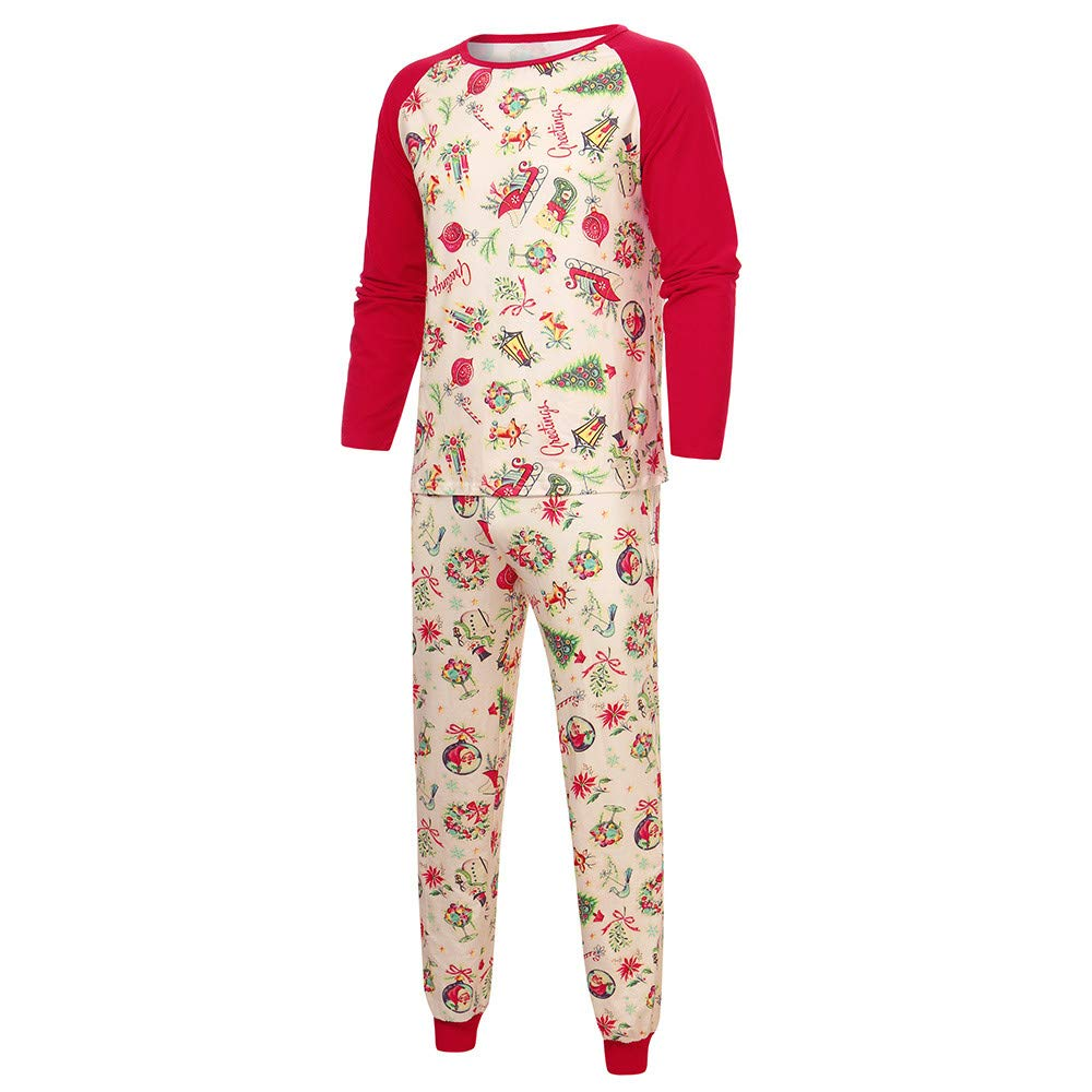 1d9751bf2 Amazon.com  Littay Xmas Splice Tops Pants Family Pajamas Matching ...