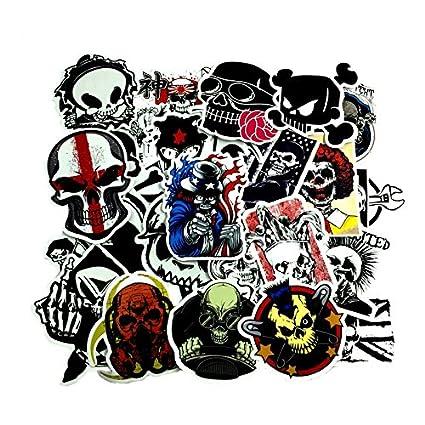 50 Unds friki pegatinas stickers calaveras diseños distintos mix para patinetes, mandos consola, cascos