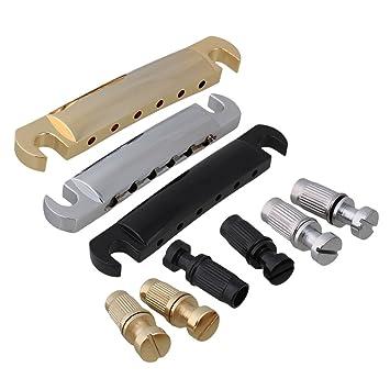 BQLZR Multicolor 10.28 mm Stop Bar cordal ancla w/tacos para guitarra eléctrica Pack de 3: Amazon.es: Instrumentos musicales