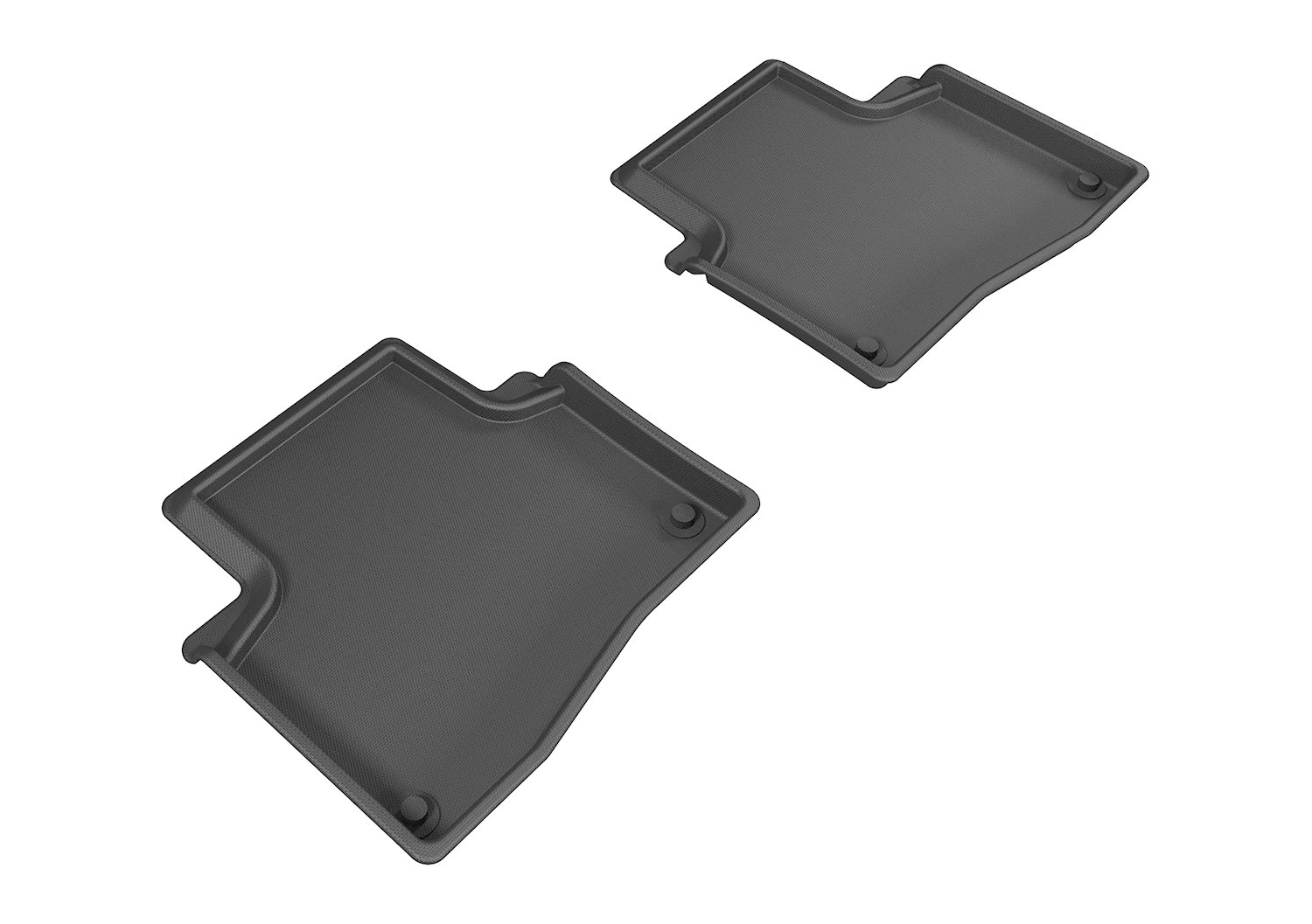3D MAXpider Second Row Custom Fit All-Weather Floor Mat for Select Acura RLX Models Kagu Rubber Black L1AC00721509