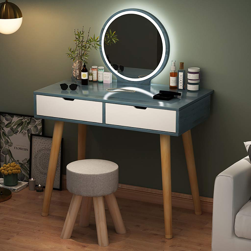 JH Spiegel Schminktisch, Schlafzimmer Schminktisch, Schminktisch, LED-Illuminator Und Aufbewahrungsschublade