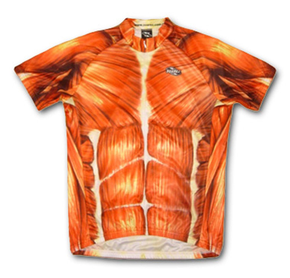 筋肉解剖学的Cycling Jerseyメンズ半袖by Suarez X-Large  B075LR9VGM