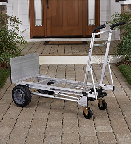 Cosco 3-in-1 Aluminum Hand Truck/Assisted Hand Truck/Cart w/ flat free wheels by Cosco (Image #3)
