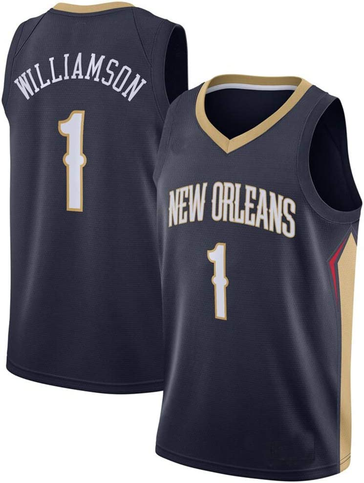 Sports Competition Suits Zion Williamson 1 Basketball Jersey New Orleans Pelicans Swingman Edition Jersey