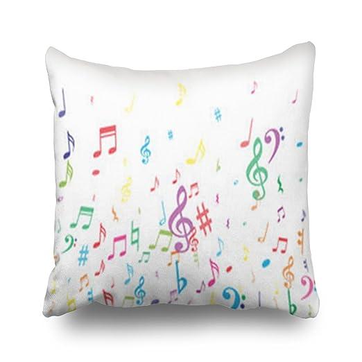 Hitime Fundas de Almohada Coloridas con Notas Musicales ...
