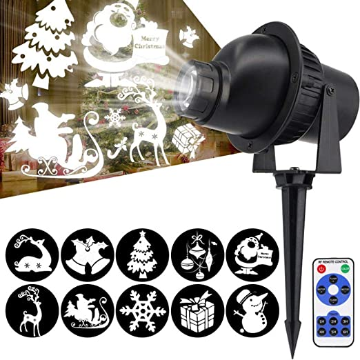Tenlso Proyector de Navidad, Christmas Snowflake Proyector Luces ...