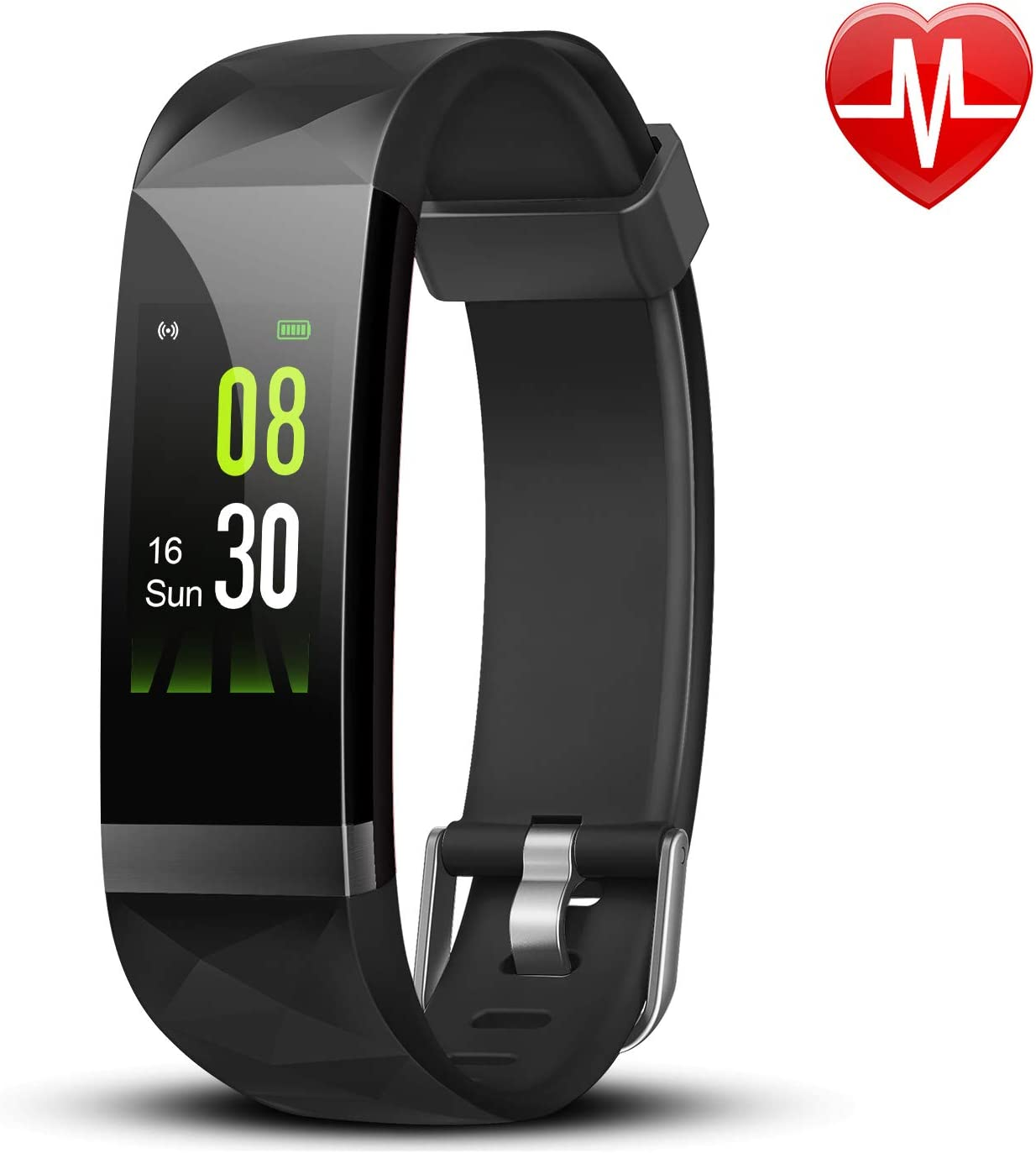 Letsfit IP68 Waterproof Wristband with Step Counter