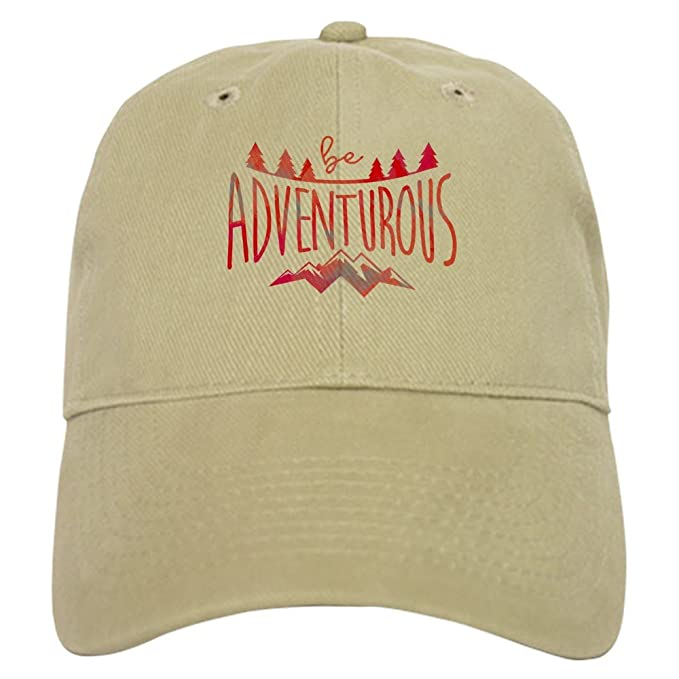 e1fb2d12931cd CafePress Be Adventurous Red - Baseball Cap with Adjustable Closure