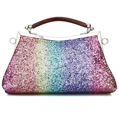 YYW  Evening Bag, Damen Clutch mehrfarbig mehrfarbig