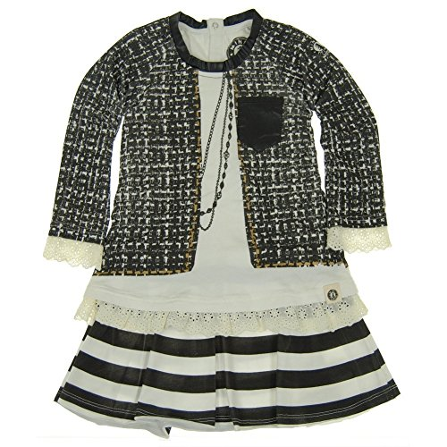 Mini Shatsu Big Girls Black White Vintage Tweed Jacket Print Dress 8 Tweed Mini Dress