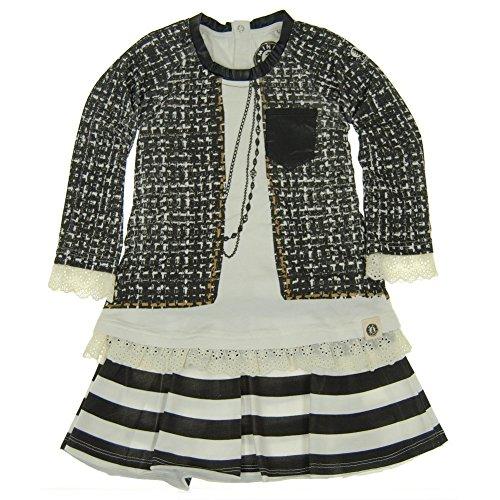 Mini Shatsu Big Girls Black White Vintage Tweed Jacket Print Dress 8 Tweed Mini Dress