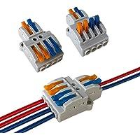 Aiqeer 9 Piezas KV424 Palanca Tuerca Cable Conectores Set, 2 in 4 out Conector Conductor Compacto, Bilateral Rápido…