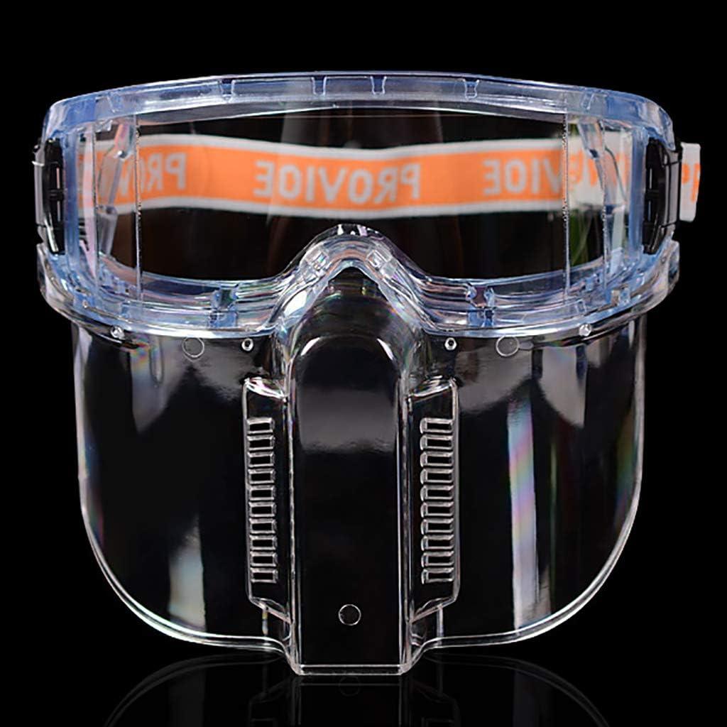 Gafas de seguridad con protector facial desmontable: transparente a prueba de salpicaduras,a prueba de impacto y a prueba de polvo,utilizado para experimentos químicos Soldadura Pulido industrial