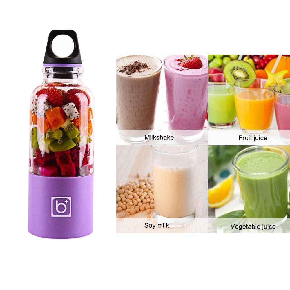 FOONEE Portable Juicer Cup,USB Rechargeable Personal Blender, Juice Mixer, Personal Smoothie Maker 2600mAh Fruit Vegetable Mixing Machine Upgraded Motor 500ML Large Capacity by FOONEE (Image #5)