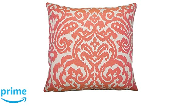 The Pillow Collection Wafai Ikat Bedding Sham Coral King//20 x 36