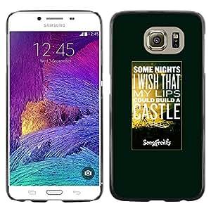 [Neutron-Star] Snap-on Series Teléfono Carcasa Funda Case Caso para Samsung Galaxy S6 [Hot Citar Texto Sunset Naturaleza]