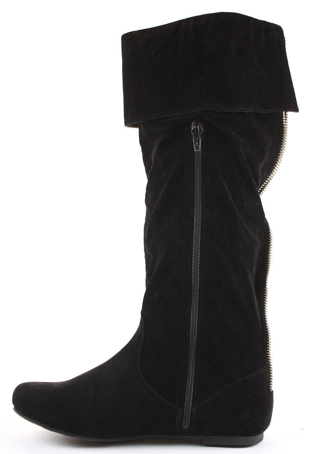 shoeFashionista Damen WinterStiefel Stiefel Schuhe Flach Größe 36 41