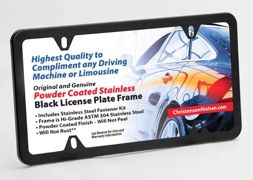 Amazon.com: Christensen and Nielsen Matte Black License Plate Frame ...