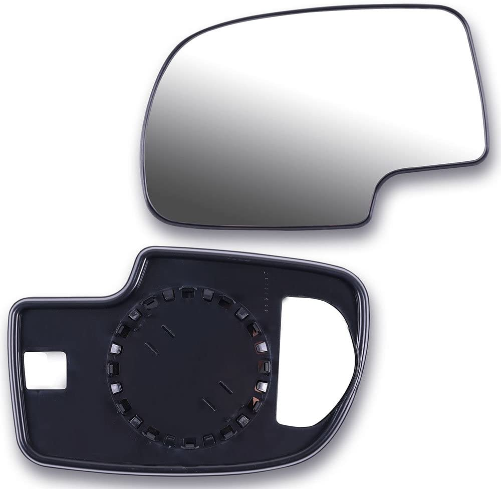 SCITOO Replacement Mirror Glass Passenger Side Compatible with 1999-2006 for Chevy Silverado Pickup 2007 for Chevy Silverado Pickup 2000 for Chevy Suburban 2001-2006 for GMC Yukon XL for GMC Sierra