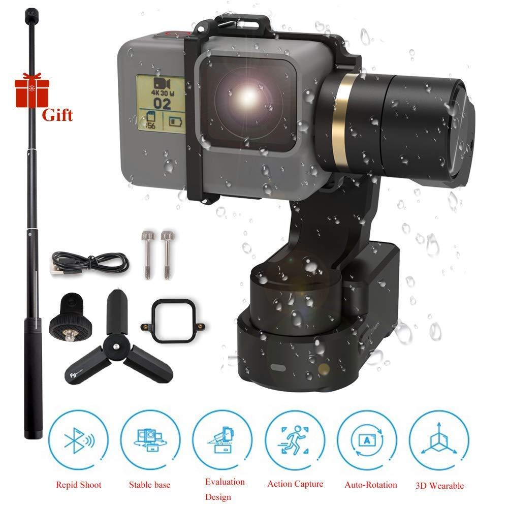 FeiyuTech Feiyu WG2X ウェアラブルジンバルスタビライザー エクステンションポール&ミニ三脚付き アクションカメラジンバル GoPro Hero 7/6 / 5/4 / セッションに対応 同サイズのカメラに対応   B07LBCT6QK