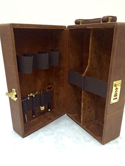 Buy Travelling Bar Set Genuine Leather With Tools Home Bar Bar