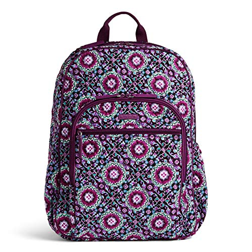 Vera Bradley Quilted Signature Cotton Campus Tech Backpack (Lilac Medallion)