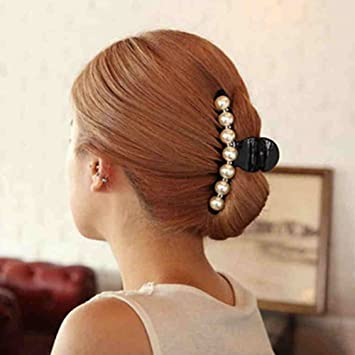 Elegant Women Pearl Rhinestone Headdress Hairpin Clip Hair Claw Accessories Hot