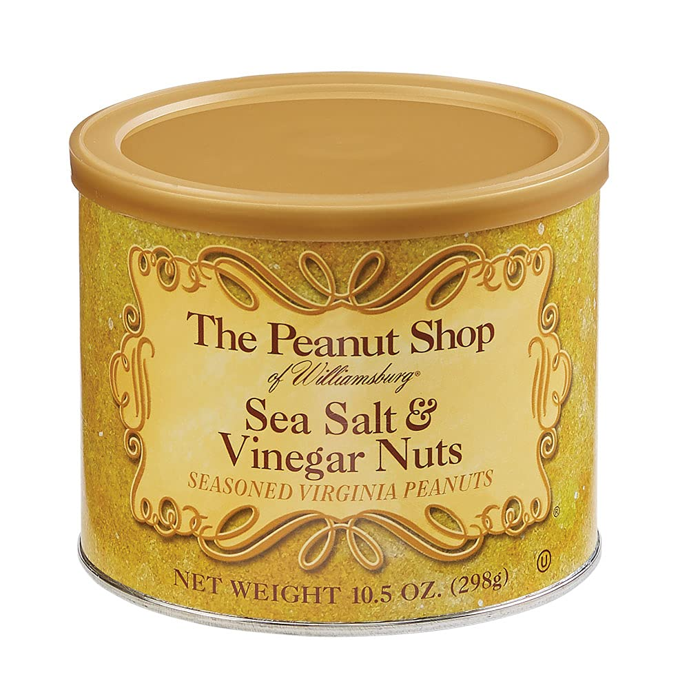 The Peanut Shop of Williamsburg Sea Salt & Vinegar Nuts, Seasoned Virginia Peanuts, 10.5 Ounce