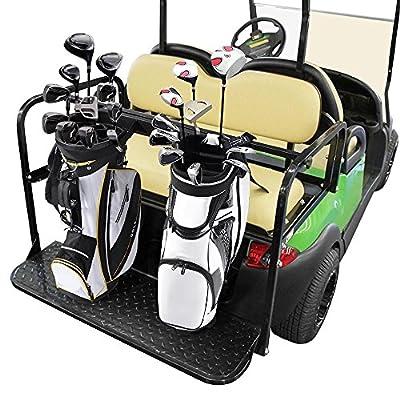 AW Universal Golf Bag Attachment Golf Bag Holder Bracket Rack for Golf Cart Rear Seat Black