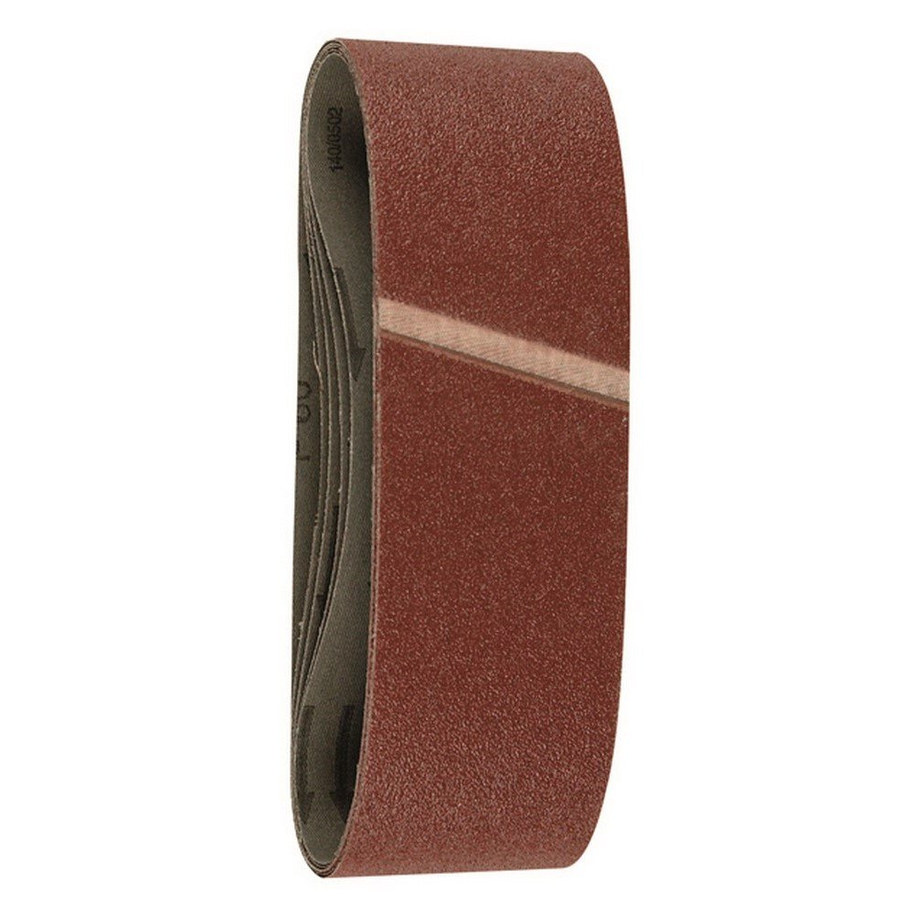 Hitachi - 753240 - Set de 6 ud. de papel de lilja para lijadoras de banda 76x533 mm de granos 60/80/120