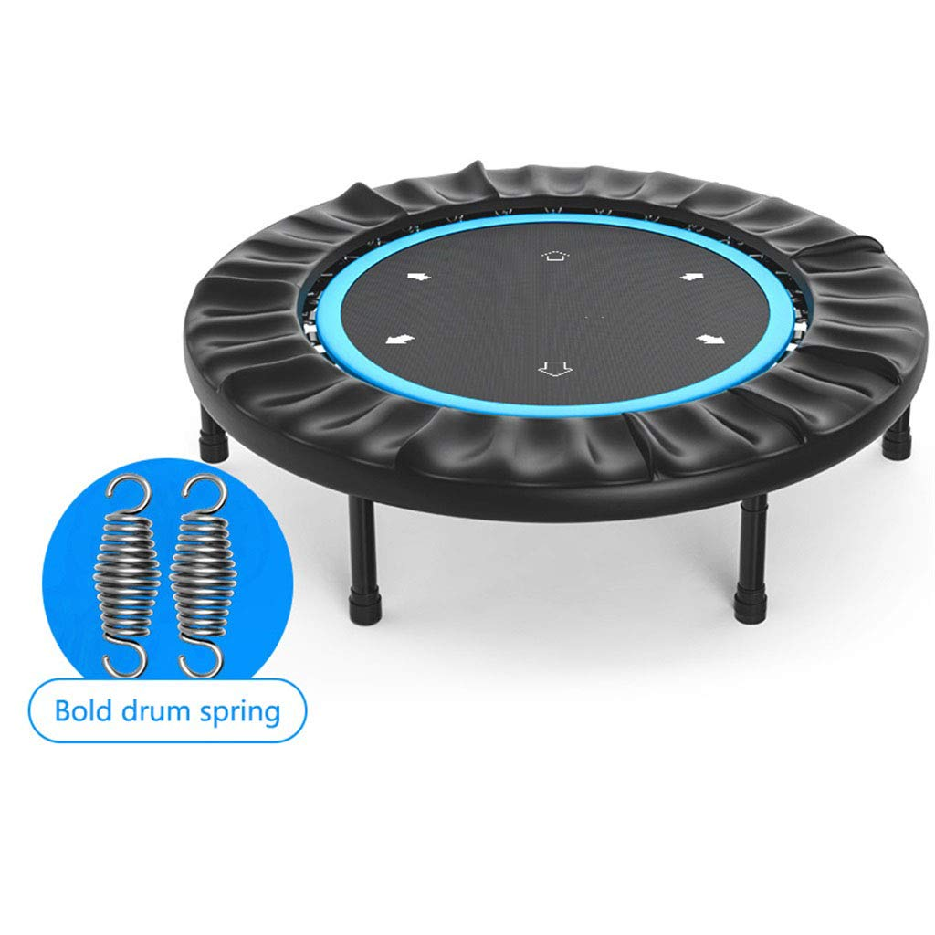 LKFSNGB 45-Inch Fitness Rebounder Indoor Mini Trampoline 360° Safety Shield Aerobics Training Device Aerobic Training Capacity Bearing Weight 150kg by LKFSNGB