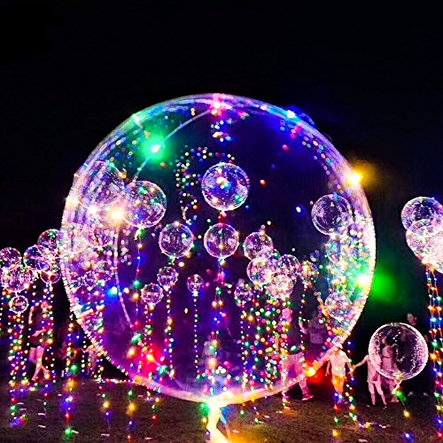 18inch 5pcs Colorful Flashing Led Lighting Balloons,Great for Festive Party Decoration, Birthday, Wedding Christmas Decoration Balloons. ()