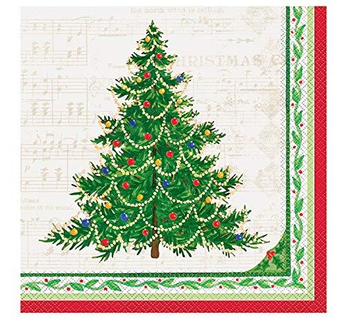 Classic Christmas Tree Dinner Napkins, 16ct