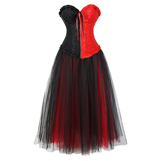 Saloon Girl Costume   Victorian Burlesque Dresses & History frawirshau Womens Peacock Style Lace Up Boned Corset Burlesque Lingerie $59.99 AT vintagedancer.com