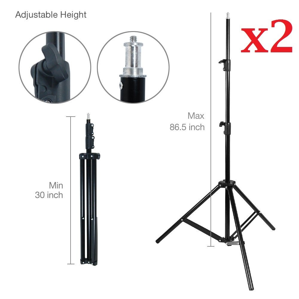 CanadianStudio Fully adjustable 2 x 7ft light stand for Photography studio Photo Lighting Reflector 803A