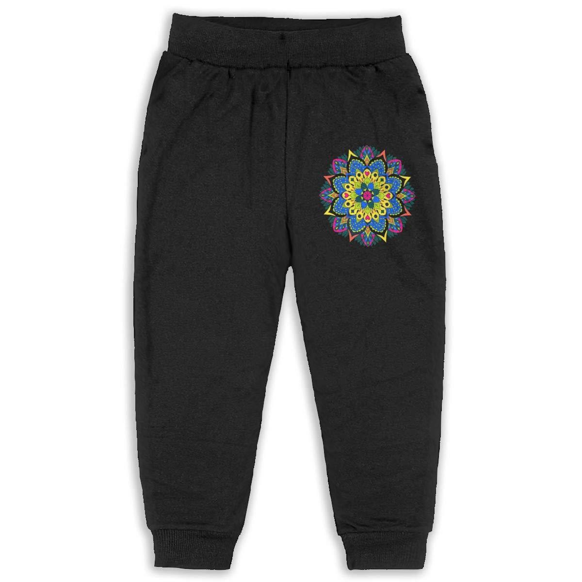 Laoyaotequ Mystical Mandala Kids Cotton Sweatpants,Jogger Long Jersey Sweatpants