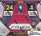 2017/18 Panini PRIZM NBA Basketball HUGE 24 Pack Retail Box with AUTOGRAPH & 12 PRIZM! Look for Rookies & Autographs of Jayson Tatum, Lonzo Ball, Donovan Mitchell, Kyle Kuzma & Many More! WOWZZER!