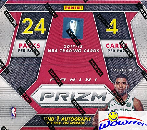 2017/18 Panini PRIZM NBA Basketball HUGE 24 Pack Retail Box with AUTOGRAPH & 12 PRIZM! Look for Rookies & Autographs of Jayson Tatum, Lonzo Ball, Donovan Mitchell, Kyle Kuzma & Many More! WOWZZER!