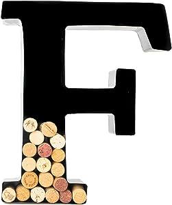 Wine Cork Holder - Metal Monogram Letter (F)