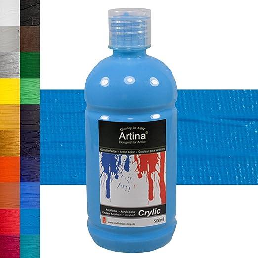 2 opinioni per Artina Colore acrilico per pittura 500ml Crylic- blu ceruleo- qualità per