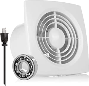 Exhaust Fan Extractor, HG POWER Ultra Silent 6 Inch Home Ventilation Fan Bathroom Garage Moisture Exhaust Fan 150mm - Strong Exhaust for Kitchen/Bathroom/Bedroom/Office ( Ceiling and Wall Mount )-D
