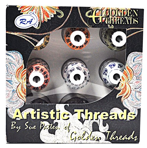 Golden Threads Artistic 9 Mini King Spools Threads Rayon Mini King Spools