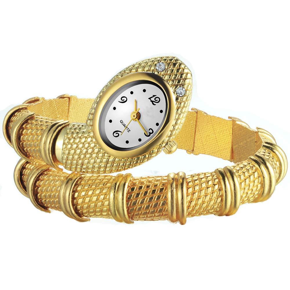 reloj de pulsera Oro Serpiente Estilo aleación de cuarzo analógico https://amzn.to/2TC0C0f