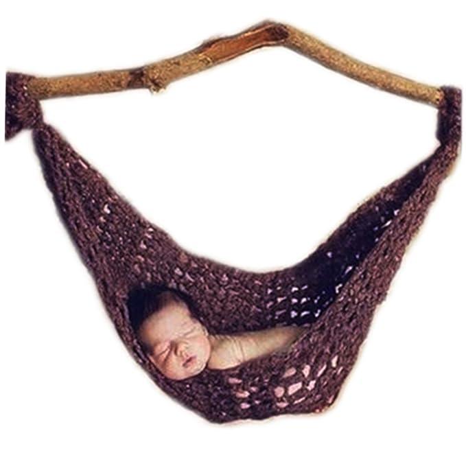 Vemonllas Tejer a Mano Recién Nacido Chico Niña Conjuntos Bebé Fotografía Accesorios Tejer Hamaca: Amazon.es: Ropa y accesorios
