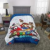 Franco Kids Bedding Super Soft Reversible Comforter, Twin/Full 72' X 86', Mario